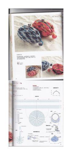 Cute Crochet Purse w/Chart Crochet Wallet, Crochet Coin Purse, Crochet Purses, Crochet Gifts, Diy Crochet, Crochet Bags, Modern Crochet Patterns, Crochet Stitches Patterns, Crochet Chart