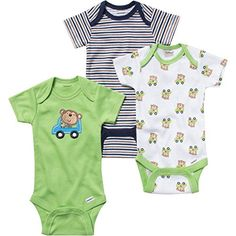 Gerber Unisex Baby 3 Pack Onesies  Neutral 03 Months *** Check out this great product. (This is an affiliate link) #BabyBoyBodysuits