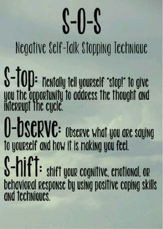 This applies to any and all negative thoughts. Great tool to change your thinking behaviors.