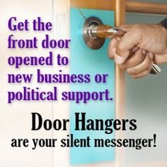 Using Door Hangers can be your silent message http://electroimagellc.com/blog/promote-summer-sales-door-hangers/