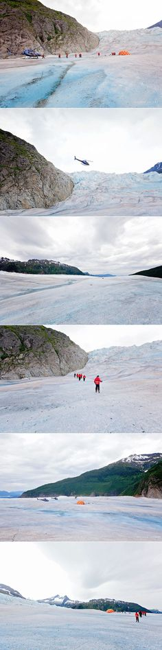 helicopter tour to Mendenhall Glacier