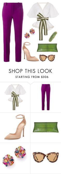 """Untitled #108"" by twinstar2779 ❤ liked on Polyvore featuring Johanna Ortiz, Roland Mouret, Gianvito Rossi, VBH, Bloomingdale's, Bottega Veneta and David Webb"
