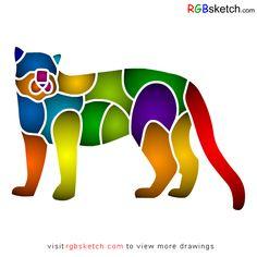 RGBsketch.com: How to draw Amur Leopard - step by step - kids dra...