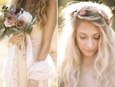 Love the antiqued hues used in this wedding