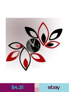 Goedkope gratis verzending home decoratie spiegel effect wandklok ...