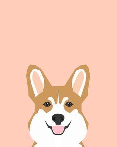 Shelby - Welsh Corgi gifts with corgi illustration for dog people and corgi owner gifts dog gifts Art Print