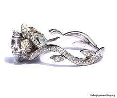Beautiful flower rose engagement ring - My Engagement Ring