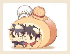 One Piece, Law, Luffy