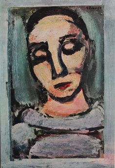 """Pierrot"" By Georges Rouault print from ReverseChronology"