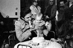 John Carter Cash on his first birthday, Feb. 1971