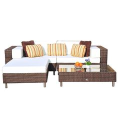 outsunny all weather garden rattan furniture seater sofa settee daybed patio sun lounger with stools