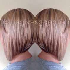 Hair Color Trends  2017/ 2018   Highlights :  Painted blonde hair and an a-line bob.