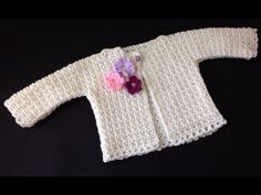 VERY EASY crochet cardigan / sweater / jumper tutorial - baby and child sizes 24 - YouTube