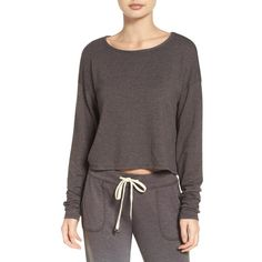 Women's Make + Model Sunrise Sweatshirt ($39) ❤ liked on Polyvore featuring tops, hoodies, sweatshirts, grey flannel, boxy crop top, grey pullover, cropped pullover, pullover top and grey pullover sweatshirt