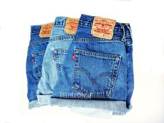 Levi High Waisted Denim Shorts CutOffs  Sizes by BaileyRayandCo