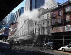 Vintage NY photo over modern day NY