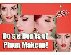 Pin-up/Rockabilly makeup tutorial Pin Up Makeup, Hair Makeup, 50s Makeup, Crazy Makeup, Beauty Makeup, Makeup Art, Makeup Blog, Eyeshadow Makeup, Winter Beauty Tips