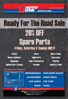20% Off Spare Parts this Friday Saturday and Sunday!