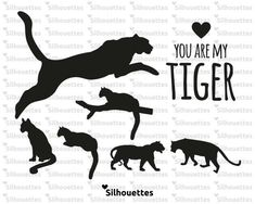 SVG | tiger silhouette eps, svg, dxf,  png Vector Instant DOWNLOAD for  Vinyl Die Cut Crafts. Vinyl Cutting , Wall Decal