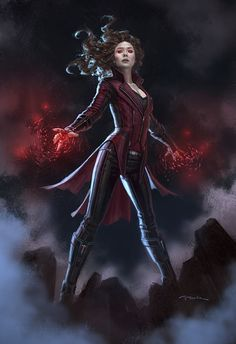 Captain America: Civil War - Wanda Maximoff concept art by Andy Park *
