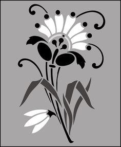 Click to see the actual DE123 - Motif No 15 stencil design.