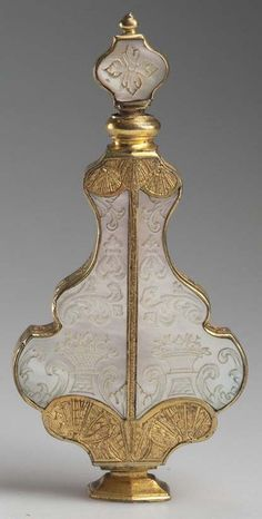 Perfume Bottle | French? Mother of Pearl Gilt Metal Mounted Urn