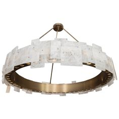 Geometric Rock Crystal Chandelier | From a unique collection of antique and modern chandeliers and pendants at https://www.1stdibs.com/furniture/lighting/chandeliers-pendant-lights/