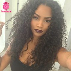 Cheap wig weft, Buy Quality wig kanekalon directly from China wig distributor Suppliers:          7A Glueless Full Lace Human Hair Wigs Kinky Curly 100% Unprocessed Brazilian Virgin Hair Lace Front U Part Wigs