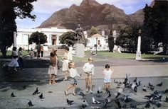 Children and birds in the shadow of Lion's Head, The Gardens, Cape Town, South Africa, photograph by Etienne du Plessis. Dublin, South Afrika, Cape Town South Africa, Local Attractions, Most Beautiful Cities, Old Photos, Vintage Photos, West Coast, Travel Destinations