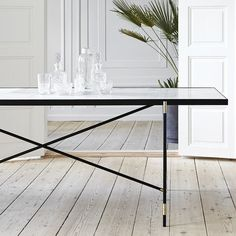 The Handvark marble dining table was not only a design challenge; it was an engineering task. Marble is both heavy and delicate so it took many prototypes to create the perfect table. Black Marble, Marble Top, The Cool Republic, Deco Design, Messing, Elegant, Decoration, Designer, Entryway Tables