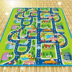 Alta calidad 200 * 160 * 0.5 cm Baby play mat estilo mat bebé gatee City alfombra bebé niños game juguetes Rug Kids envío gratis(China (Mainland))