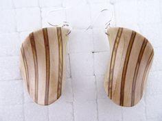 Exotic wood earrings women wooden jewelry unique von JanosToldik