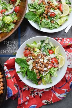 Tortellini primavera salad recipe chopped salad with spiced chickpeas forumfinder Choice Image