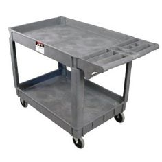 """JET PUC-3117 Resin Utility Cart by Jet. $170.99. From the Manufacturer                The PUC-3117 Resin Utility Cart is lightweight, mobile, and versatile. The heavy duty resin resists dents, chips, and rust as it glides on large, quiet, non-marking 5-Inch casters.                                    Product Description                140018 Features: -Utility cart.-Model number: PUC-3117.-Quiet non-marking 5""""Casters for increased maneuverability.-Material: Resin...."""