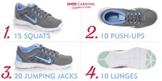 Workout Tip: Put on your Nike Flex trainers to do this quick workout every morning. #fitness #workout #ideas #tips #sneakers
