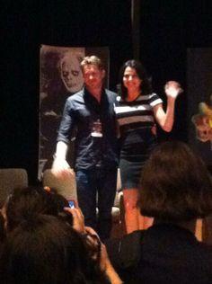 Lana Parrilla  Sean Maguire at spooky empire June 1st 2014.