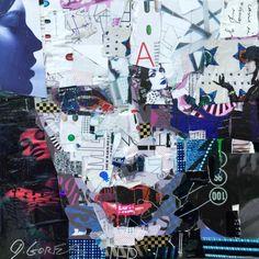 Collage Artwork: Collage Art by Derek Gores Derek Gores, Collage Artwork, Crowley, Mixed Media Canvas, Art Day, Insta Art, Canvas Art, Artist, Projects
