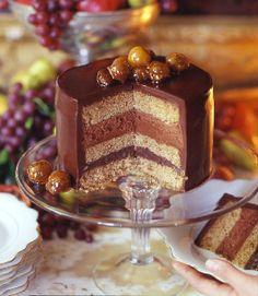 Pastel de Chocolate con Avellana y Cogñac