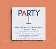 Geboortekaart Zeilboot – FluffyCloud Geboortekaartjes