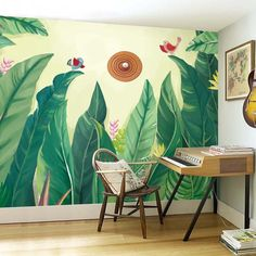 A tropical vibe brings life to this space - Add a Touch of the Tropics to Your Home for Summer