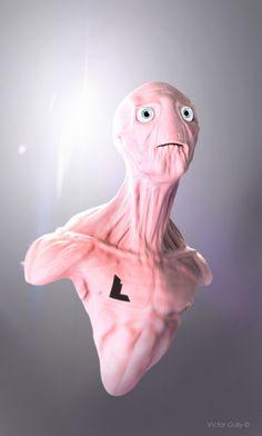 Alien, quick Sculpt. Zbrush/Clarisse/Photoshop | © Victor Gully