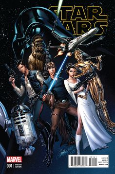 Star Wars #1 variant cover by J Scott Campbell.