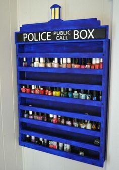 Dr.Who nail polish organizer:-)