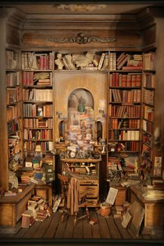 Miniature Library by David Sculpher