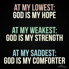 God is my Hope, Strength and Comforter. Catholic. Catholics. Christian. Christians. Jews. Jewish.