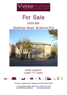 Fantastic Location!!!! Victor Michael present to you this Two bedroom flat situated in the heart of Stratford. Visit www.victormichael.com for more info.