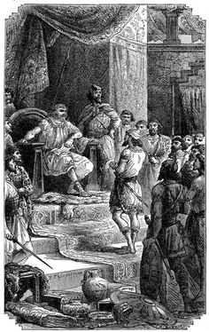 Not ancient Phoenicians - Phoenician Scene at Court takes place after invasion.
