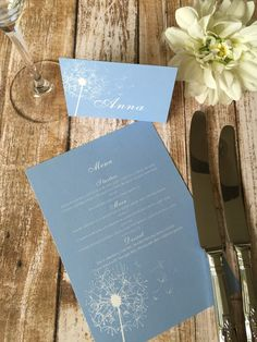 Our lovely table wedding stationery featured in Bride: The Wedding Site Start your colour theme early with your Wedding Table Settings, Table Wedding, Velvet Cake Company, On Your Wedding Day, Diy Wedding, Wedding Flip Flops, Something Blue Wedding, Blue Bouquet, Blue Hydrangea