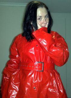 Adele, Photo Merci, Red Raincoat, Bronze, Rain Wear, Women Wear, Leather Jacket, Sexy, How To Wear