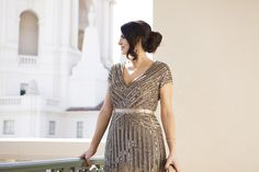 Beaded Adrianna Papell Gown, Laura Lily Fashion Blog, Azusa Takano Photography, 12 Days of Holiday Style,